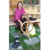 Verena at wool spinning